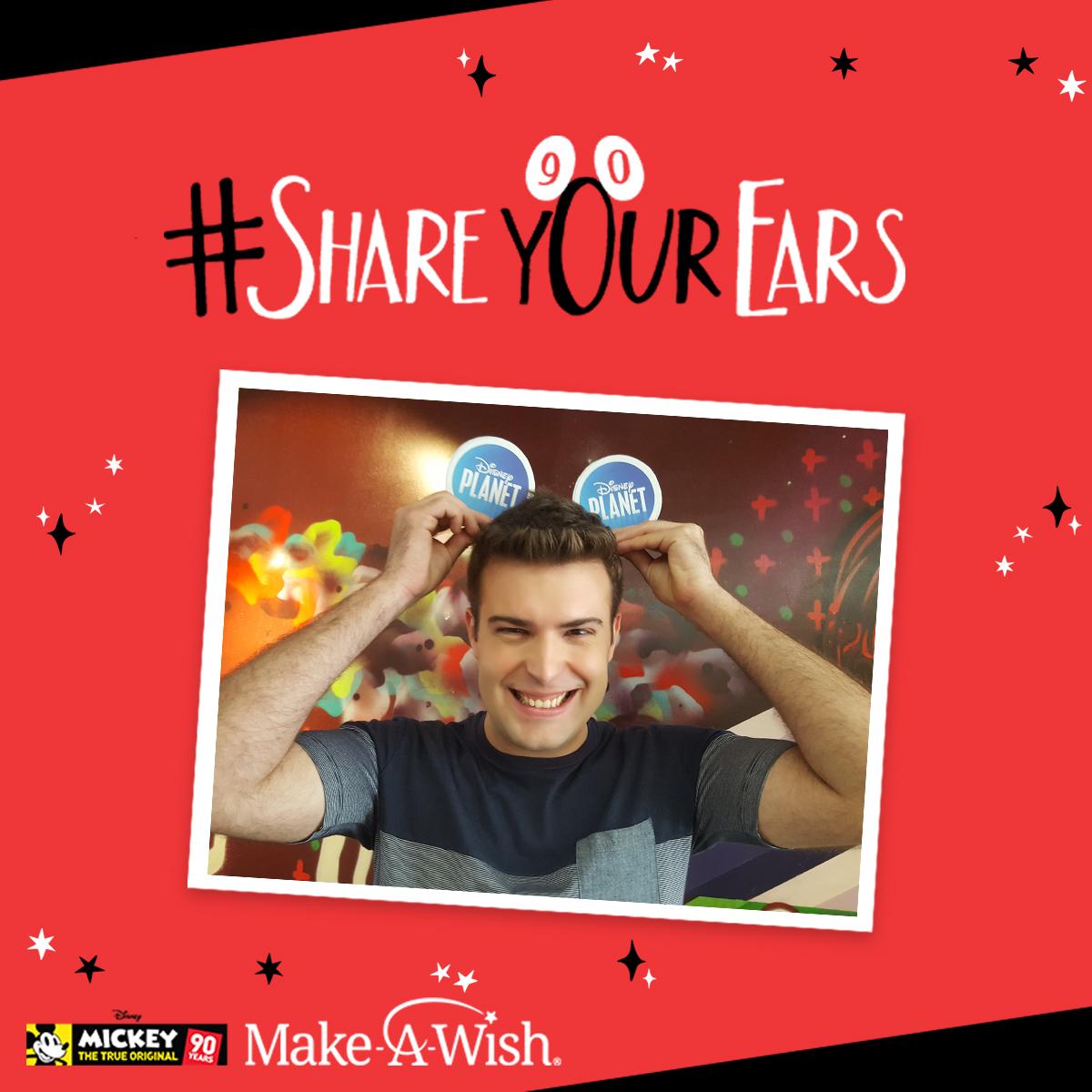 """The Walt Disney Company y Make-A-Wish® invitan a los fans a participar en la campaña """"Share Your Ears"""" para colaborar cumpliendo deseos en el marco del 90 aniversario de Mickey Mouse"""