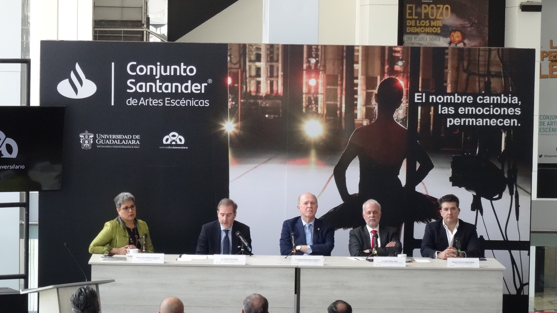 Universidad de Guadalajara y Banco Santander México anuncian alianza para impulsar cultura y artes en el  Conjunto de Artes Escénicas