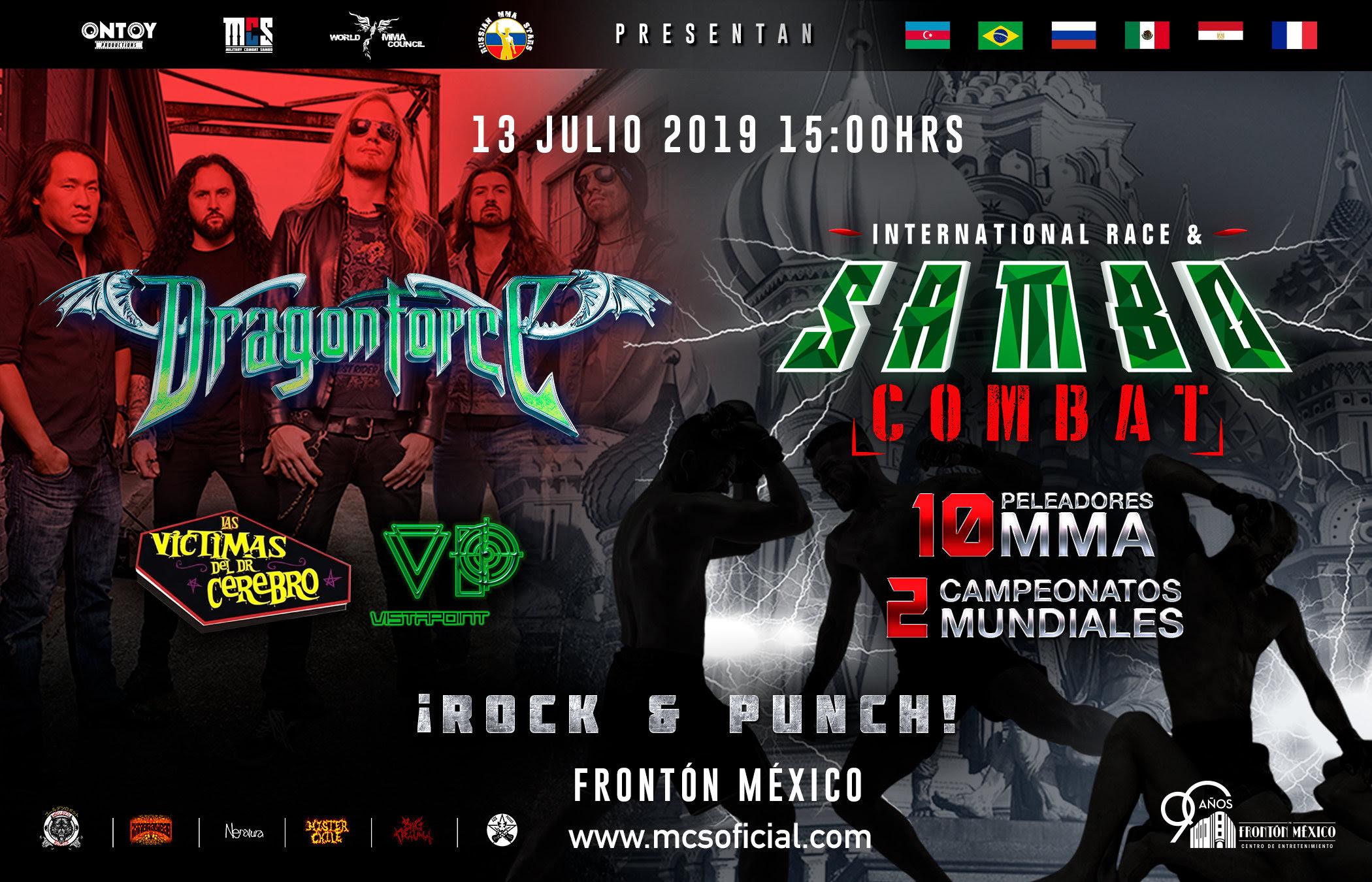 International Race and Sambo Combat en México más Dragon Force y Víctimas del Dr. Cerebro