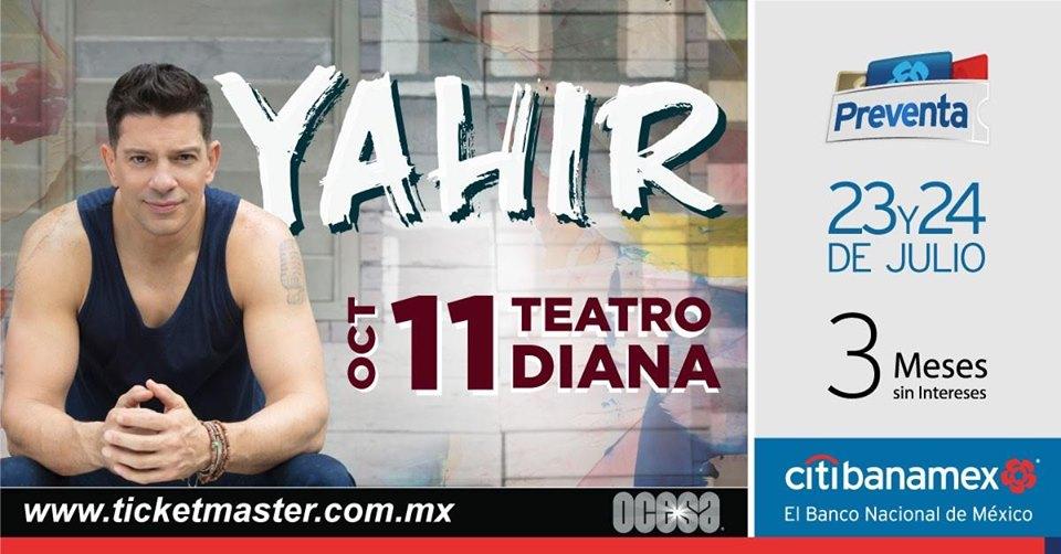 ¡Yahir se presentará en Guadalajara con su #Pura Vida Tour!