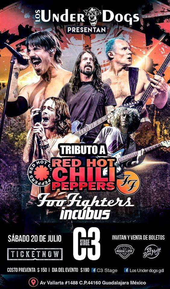 Tributo C3 Foo Fighters RHCP Incubus