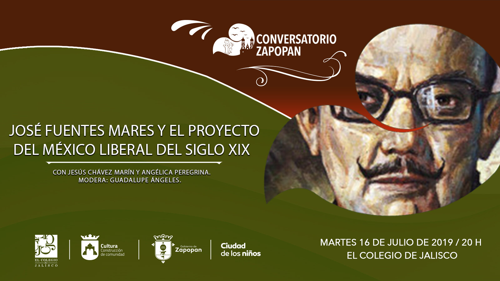 Cultura Zapopan y El Colegio de Jalisco invitan al conversatorio «José Fuentes Mares y el proyecto del México liberal del siglo XIX»