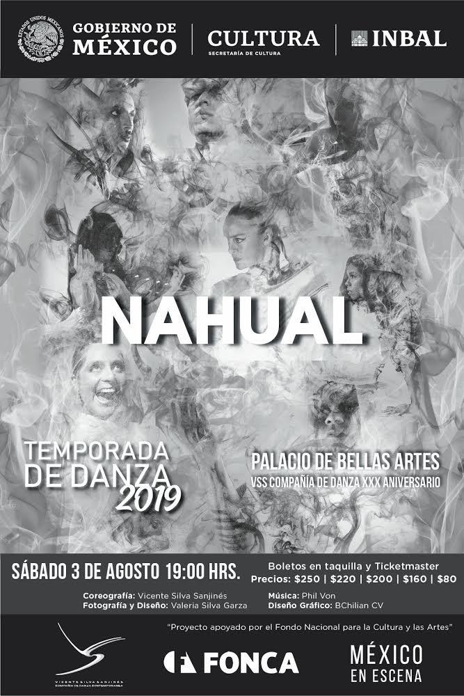 """La VSS Compañía de Danza celebrará su XXX Aniversario con el estreno de """"Nahual"""" el sábado 3 de agosto en Palacio de Bellas Artes"""