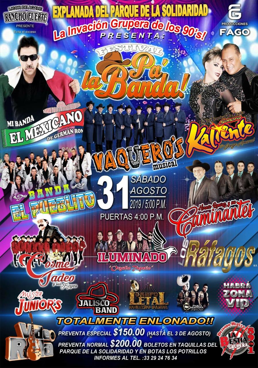 #CORTESÍAS #DateAlaFuga / Festival Pa´ la Banda