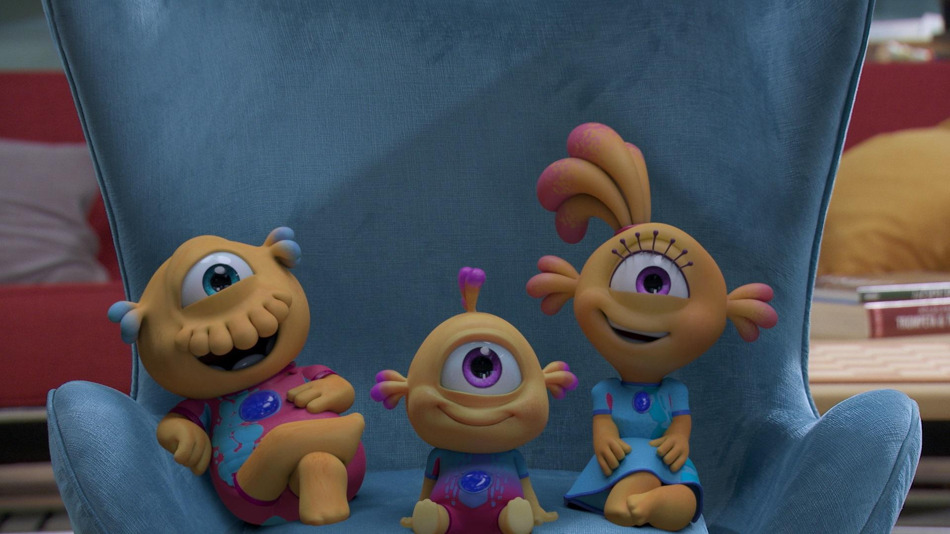 Más risas de otro planeta: El 23 de septiembre llegan nuevos episodios de Nivis, amigos de otro mundo a Disney Junior