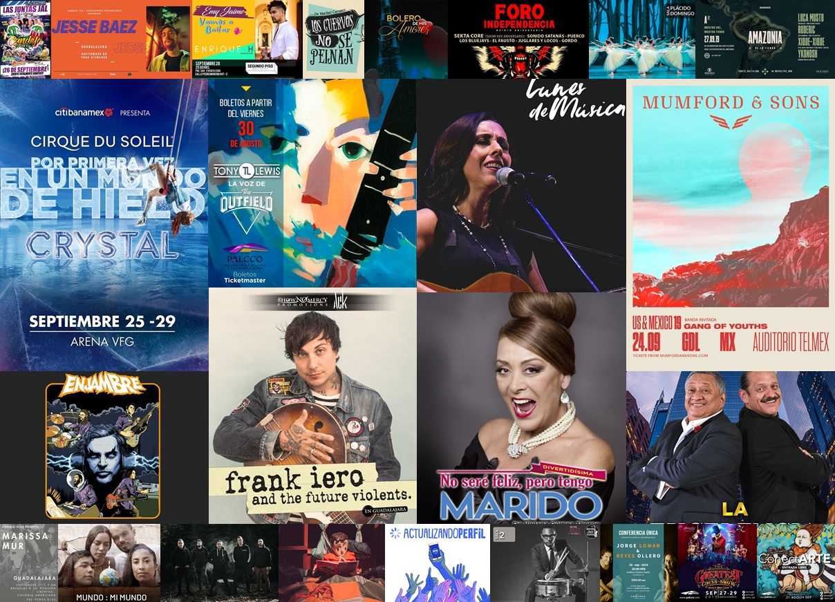 Calendario Semanal, Eventos del 23 al 29 de septiembre 2019
