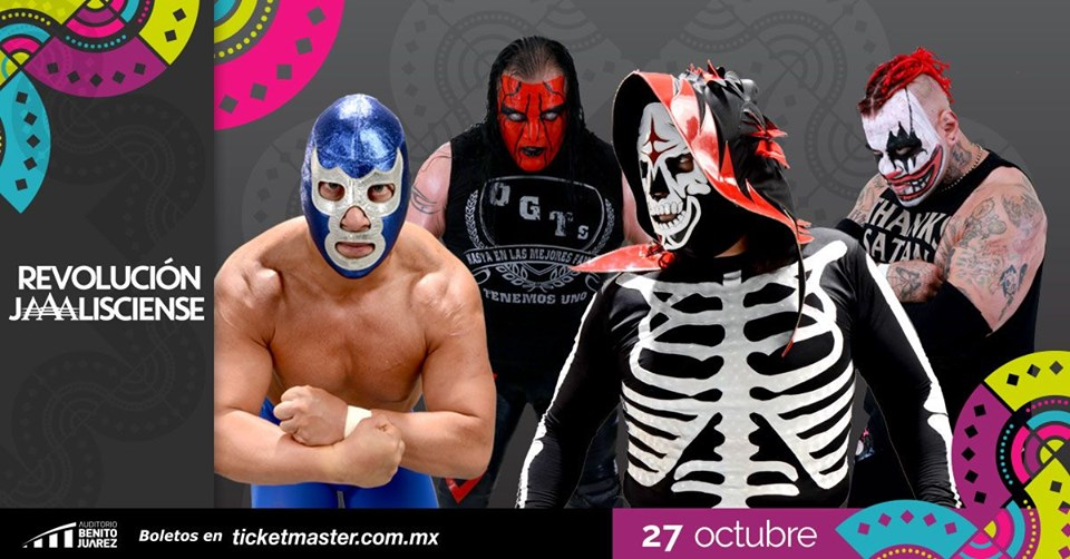 Lucha Libre AAA Worldwide rinde un homenaje a Jalisco en el marco de las Fiestas de Octubre de Guadalajara 2019