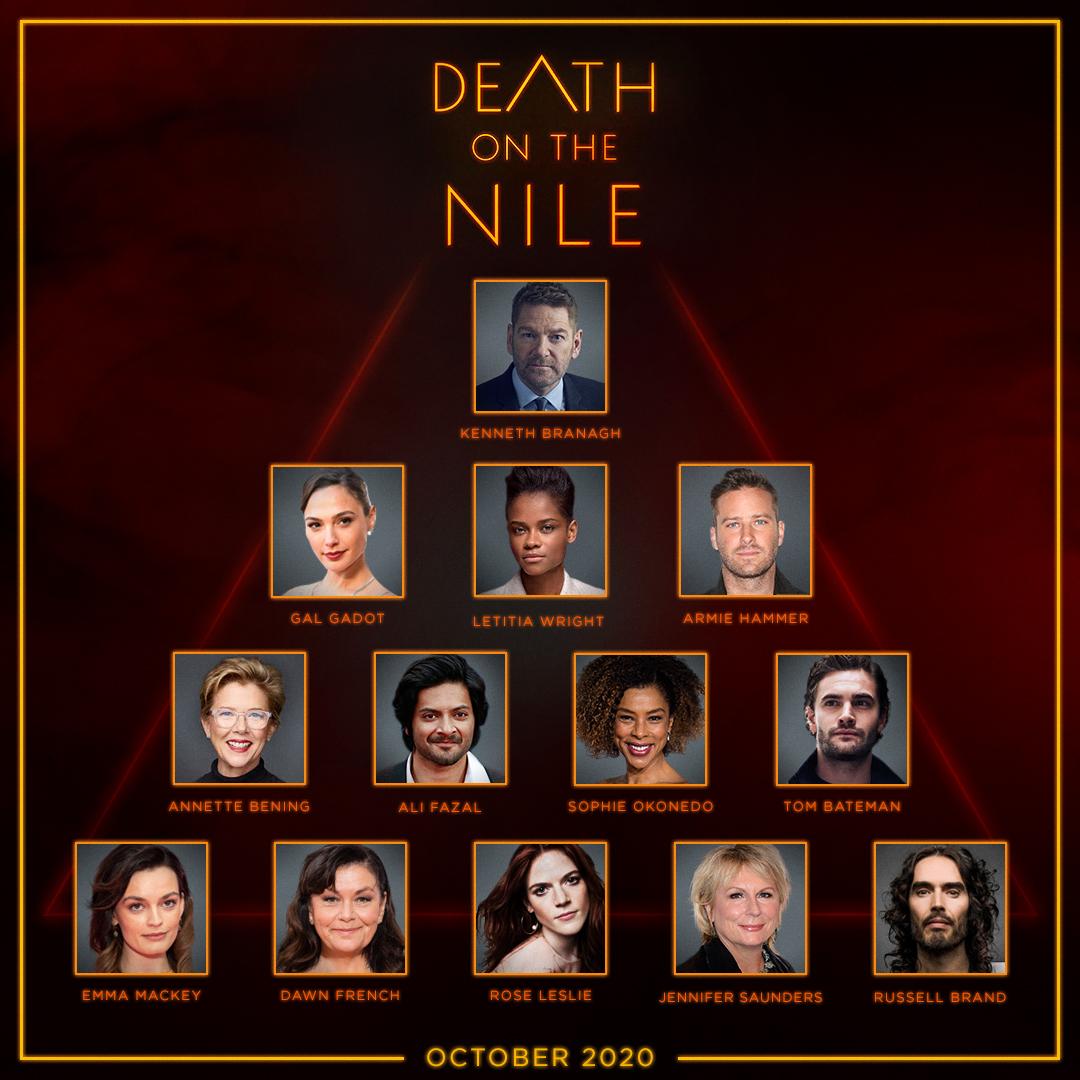"""La producción de """"Muerte en el Nilo"""", de Twentieth Century Fox, ha dado inicio con el Director Kenneth Branagh, en los Estudios Longcross del Reino Unido y en locaciones de Egipto."""