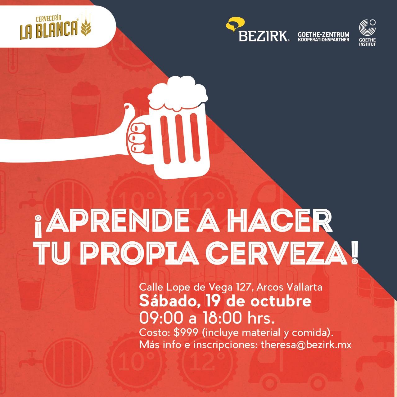 Crean Bezirk y La Blanca taller de elaboración de Cerveza