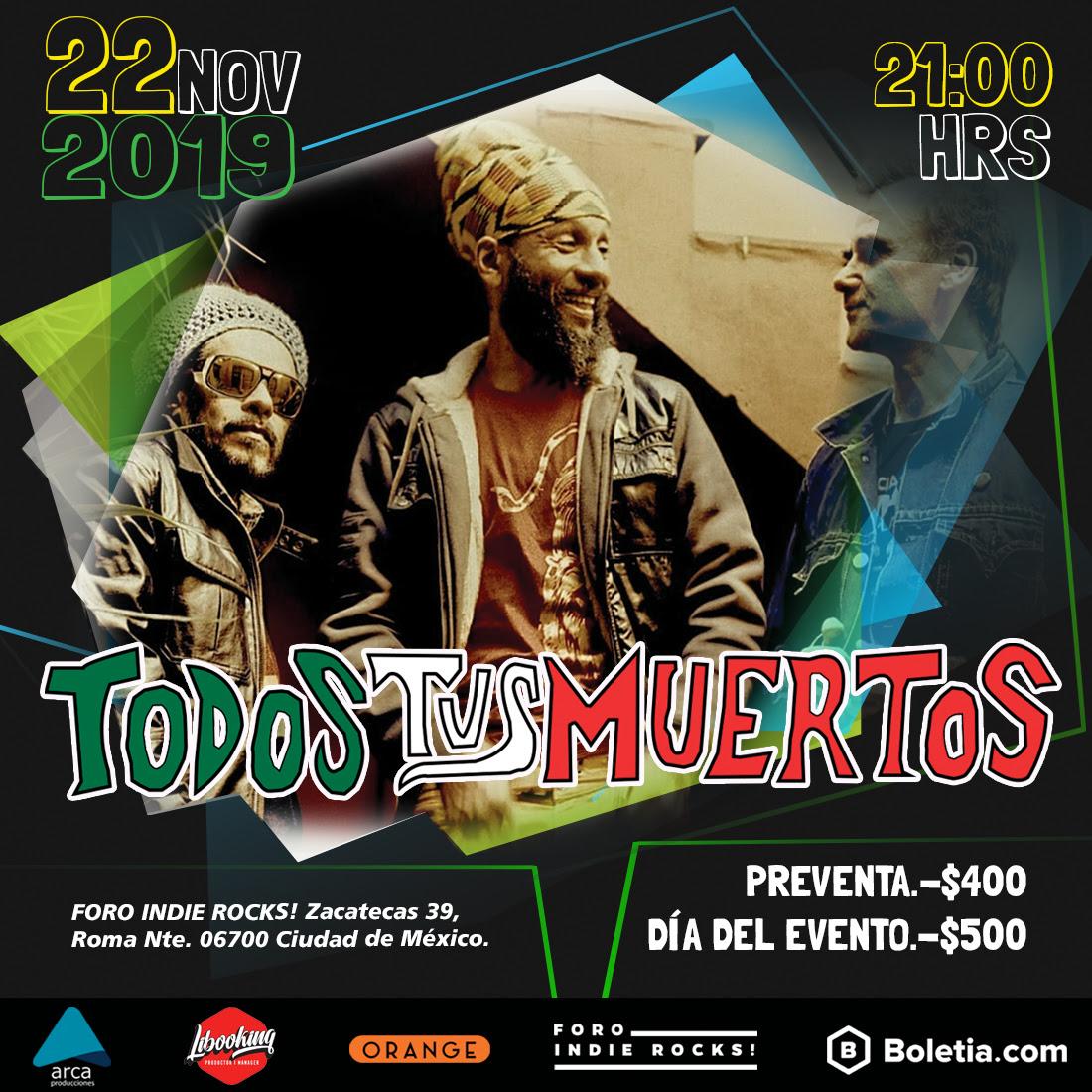 Todos tus Muertos regresa a México con un concierto memorable festejando 30 años de trayectoria