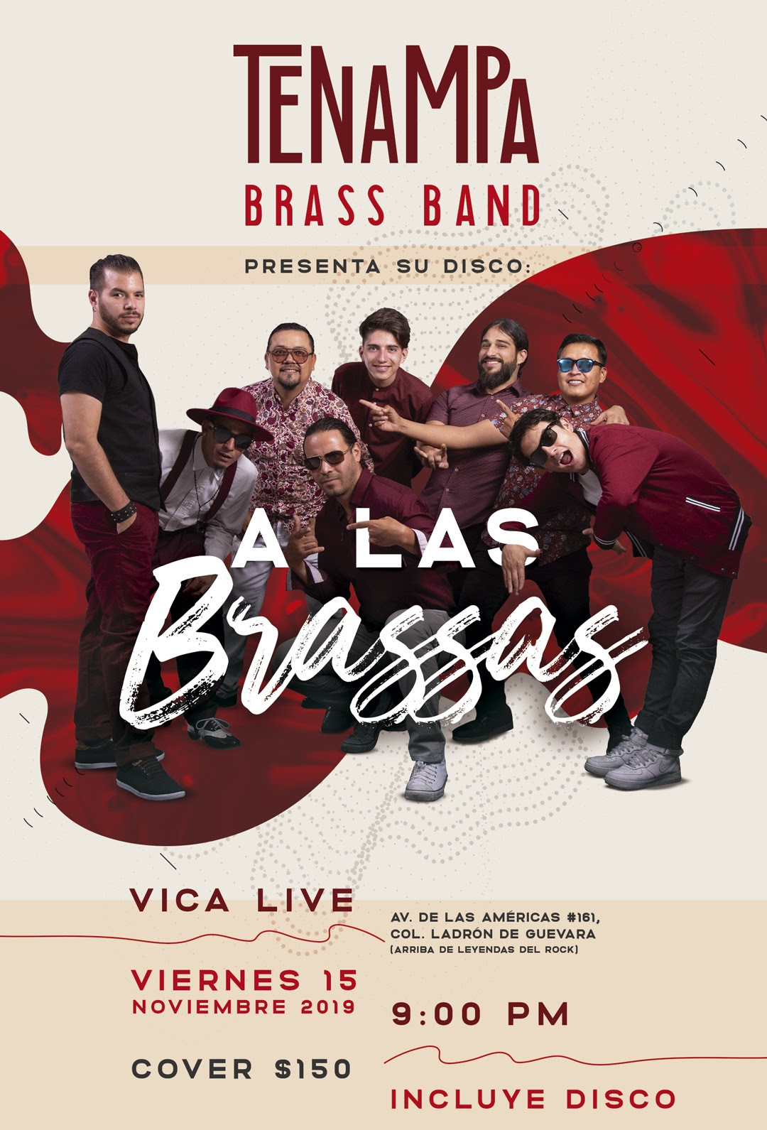 La Tenampa Brass Band presenta su disco «A LAS BRASSAS»