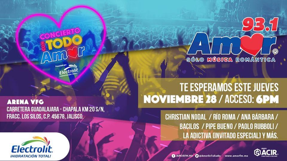 Concierto Con Todo Amor Guadalajara 2019