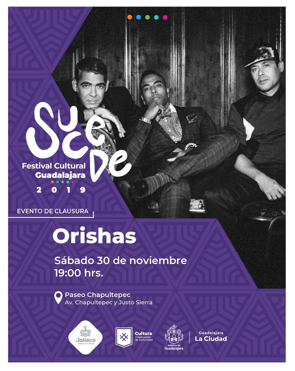 ¡Orishas por primera vez en Guadalajara, dentro del marco del Festival Cultural Sucede!