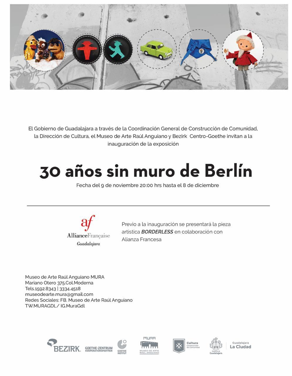 """El Museo de Arte Raúl Anguiano y Bezirk Centro Goethe inaugurarán la exposición """"30 años sin muro de Berlín"""""""