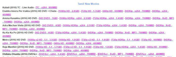 kabali leaked at Tamilrockers