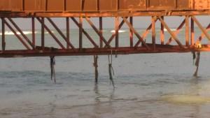 Tuticorin Sea Railway bridge