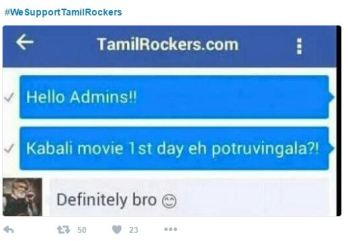 we support tamilrockers