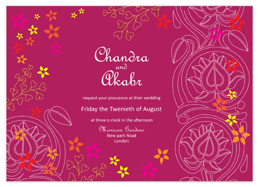 Indian Wedding Cards Scroll Invitations