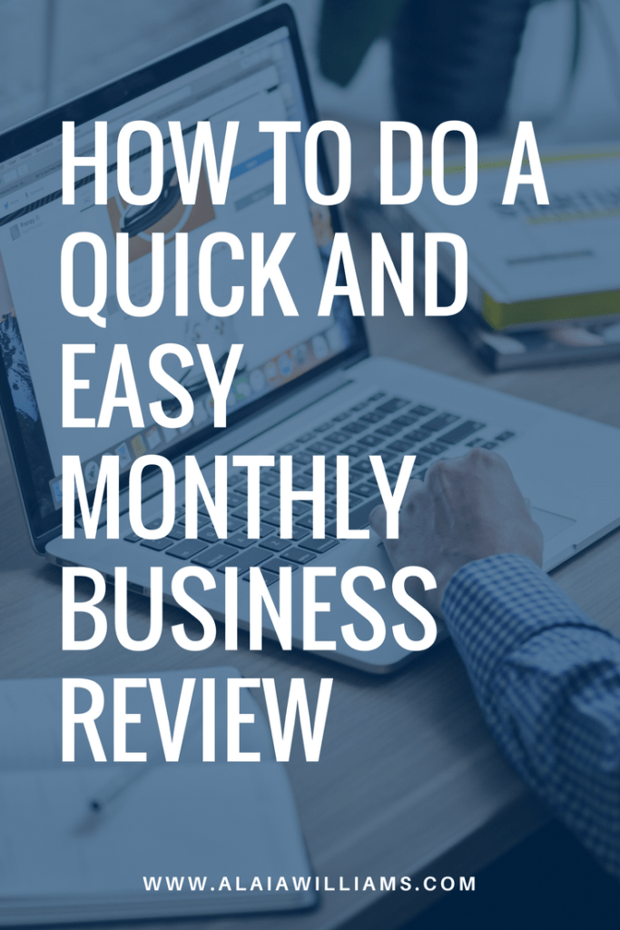 how to do a monthly business review