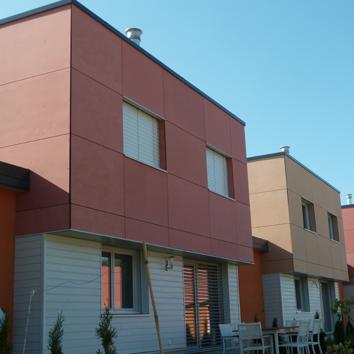 Ensemble résidentiel 8 villas BBC ossature bois, Doubs