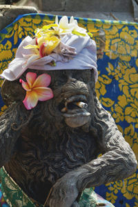 Statue à l'entrée d'un temple à Bali