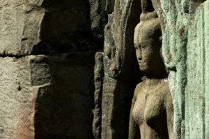Une sculpture du Preah Khan