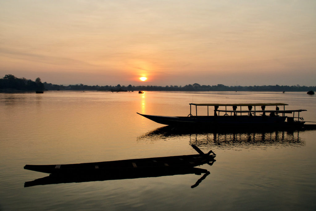 Le Mékong le matin à Don Khong