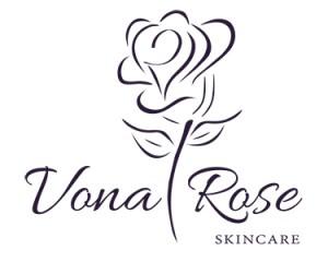Vona Rose Skincare Logo Option 1