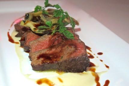 Main Course 2 - Beef Tagliata, Celery Root, Artichoke, Veal Jus