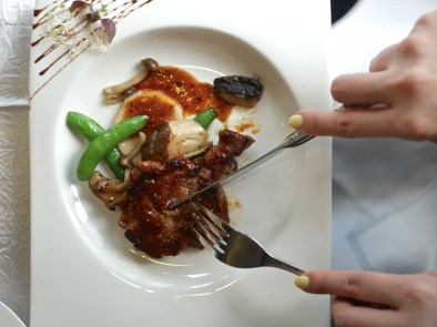 Pan-fried Kurobuta Pork with Wild Fungus in Chef's Special Sauce