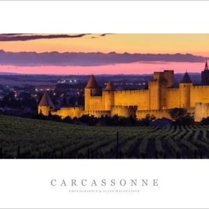 La Cité de Carcassonne au couchant – 1