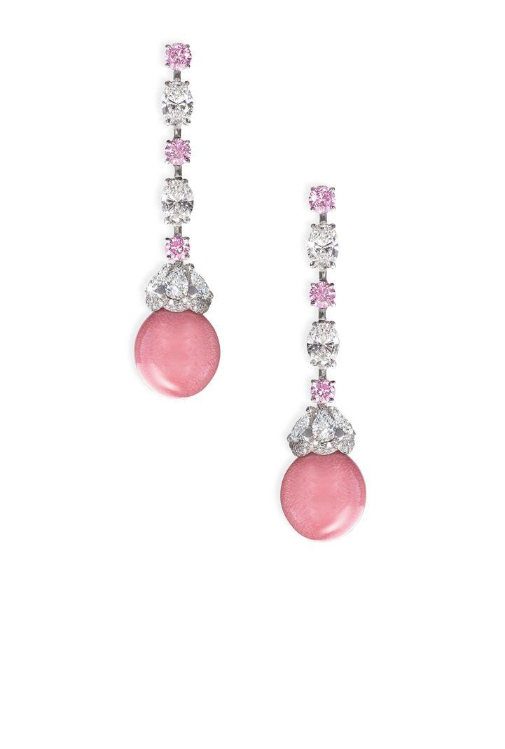 Conch pearl drop earrings