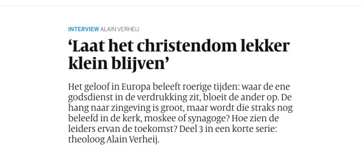 In Volkskrant: een interview