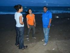 Playa Los Destiladeros en Azuero con Margaret, María Alejandra y Daniel