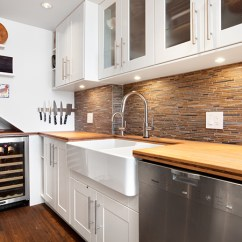 Ikea Kitchen Remodel Repurposed Cabinets A Renovation To Combine Modern Vintage And Components Custom Wine Fridge In