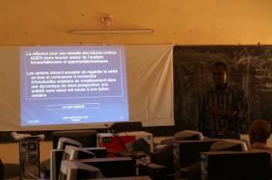 Sylvestre Ouedraogo talking during a workshop