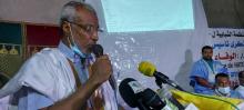 رئيس الحزب صالح ولد حننا خلال كلمته في الحفل