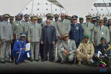 جانب من الوفد العسكري الذي زار المنطقة الحرة اليوم/ صور خلية الإعلام للمنطقة الحرة