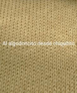 Tricot marrón al algodoncito
