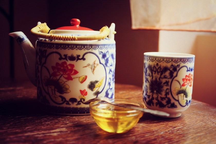 الشاي الاخضر والعسل