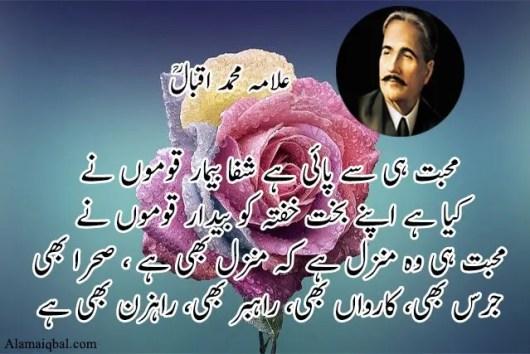 allama iqbal poetry in urdu love pdf