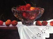 """""""A Bowl Full of Cherries,"""" watercolor"""