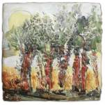 """""""Rooting for the Sun,"""" encaustic"""