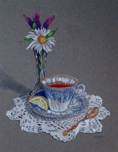 Afternoon Tea: Colored Pencil
