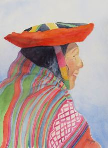 Andies Llama Herder: Watercolor