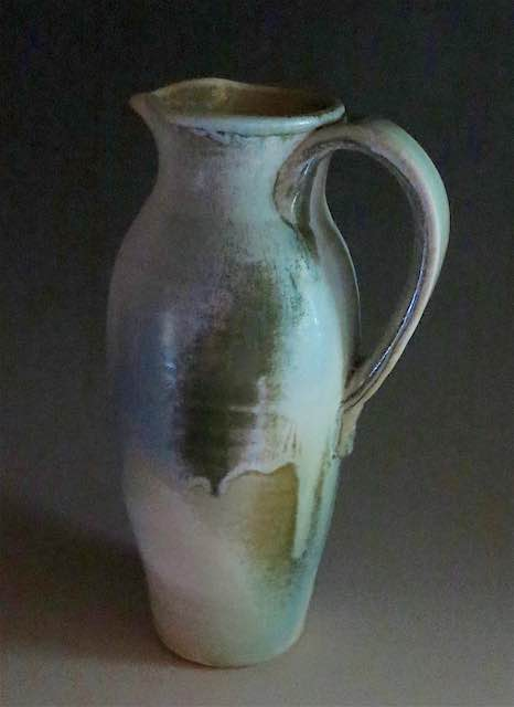 Spray Glazed Pitcher-Cool Blues