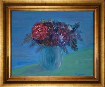 Loosey Juicy Fleurs 2, 16x20 acrylic on canvas board