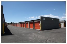our denver self-storage facility offers extra wide lanes for semi tractor trailer access