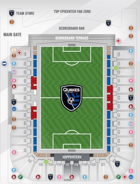 Avaya Stadium Map