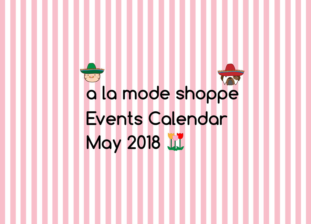 May 2018 Events Calendar